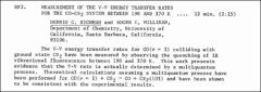 Thumbnail of MEASUREMENT OF THE V-V ENERGY TRANSFER RATES FOR THE $CO-CS_{2}$ SYSTEM BETWEEN 198 AND 370 K