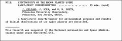 Thumbnail of SPECTROSCOPY OF THE MAJOR PLANETS USING FABRY-PEROT INTERFEROMETERS
