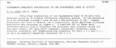 Thumbnail of DIFFERENCE FREQUENCY SPECTROSCOPY OF THE FUNDAMENTAL BAND OF $CH (X^{2}\Pi)$