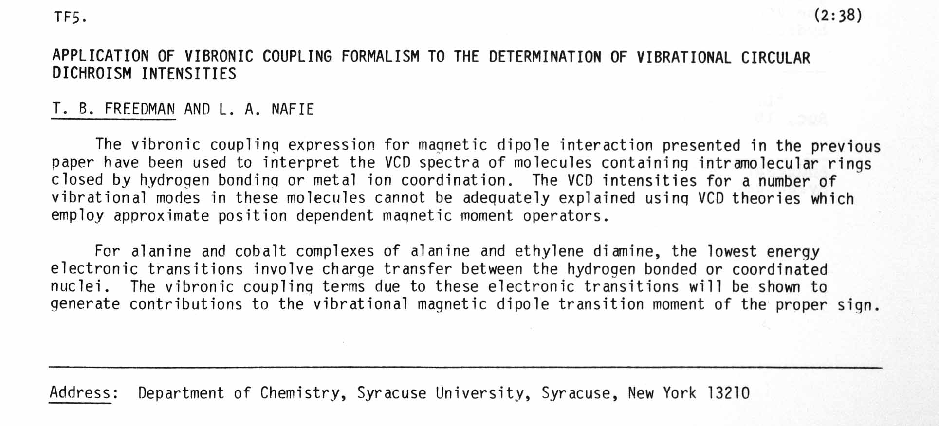 APPLICATION OF VIBRONIC COUPLING FORMALISM TO