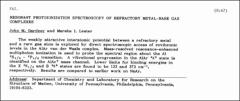Thumbnail of RESONANT PHOTOIONIZATION SPECTROSCOPY OF REFRACTORY METAL-RARE GAS COMPLEXES