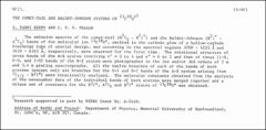 Thumbnail of THE COMET-TAIL AND BALDET-JOHNSON SYSTEMS OF $^{13}C^{18}O^{+1}$
