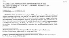 Thumbnail of INTENSITY AND LINE WIDTH MEASUREMENTS IN THE $\nu_{4}$-FUNDAMENTAL OF $^{13}CH_{4}$ AT PLANETARY ATMOSPHERIC TEMPERATURES$^{\dag}$