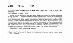 Thumbnail of QUANTUM AND THREE-BODY EFFECTS ON THE SIMULATED IR SPECTRA OF $SF_{6}-(RARE GAS)_{n}$ CLUSTERS