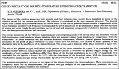 Thumbnail of OXYGEN OSCILLATIONS FOR HIGH-TEMPERATURE SUPERCONDUCTOR TRANSITION