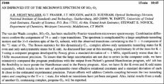 Thumbnail of AN IMPROVED FIT OF THE MICROWAVE SPECTRUM OF $SO_{2}-O_{2}$