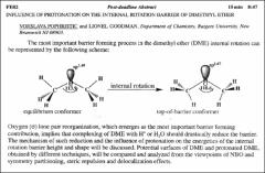 Thumbnail of INFLUENCE OF PROTONATION ON THE INTERNAL ROTATION BARRIER OF DIMETHYL ETHER
