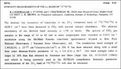 Thumbnail of INTENSITY MEASUREMENTS OF THE $2\nu_{3}$ BAND OF $^{12}C^{16}O^{18}$