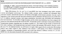 Thumbnail of DOUBLE-RESONANCE OVERTONE PHOTOFRAGMENT SPECTROSCOPY OF trans-HONO