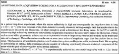 Thumbnail of AN OPTIMAL DATA ACQUISITION SCHEME FOR A PULSED CAVITY RING-DOWN EXPERIMENT