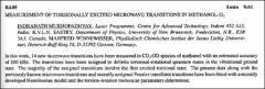 Thumbnail of MEASUREMENT OF TORSIONALLY EXCITED MICROWAVE TRANSITIONS IN $METHANOL-D_{4}$