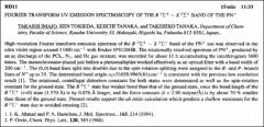 Thumbnail of FOURIER TRANSFORM UV EMISSION SPECTROSCOPY OF THE $B{^{2}}\Sigma^{+} - X^{2}\Sigma^{+}$ BAND OF THE $PN^{+}$