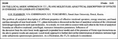 Thumbnail of ON THE LOCAL MODE APPROACH IN $XY_{2}$ PLANE MOLECULES: ANALYTICAL DESCRIPTION OF EFFECTS IN ENERGIES AND LINE/BAND STRENGTHS