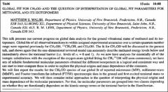 Thumbnail of GLOBAL FIT FOR $CH_{3}OD$ AND THE QUESTION OF INTERPRETATION OF GLOBAL FIT PARAMETERS FOR METHANOL AND ITS ISOTOPOMERS