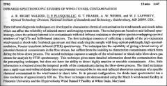 Thumbnail of INFRARED SPECTROSCOPIC STUDIES OF WIND-TUNNEL CONTAMINATION