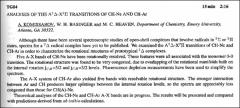 Thumbnail of ANALYSES OF THE $A^{2} \Delta-X^{2}\Pi$ TRANSITIONS OF CH-Ne AND CH-Ar