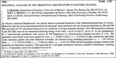 Thumbnail of ROTATIONAL ANALYSIS OF THE VIBRATIONAL GROUND STATE OF ACETONE, $CH_{3}COCH_{3}$