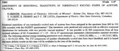 Thumbnail of ASSIGNMENT OF ROTATIONAL TRANSITIONS OF TORSIONALLY EXCITED STATES OF ACETONE, $CH_{3}COCH_{3}$