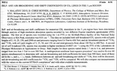 Thumbnail of SELF- AND AIR-BROADENING AND SHIFT COEFFICIENTS OF $CH_{4}$ LINES IN THE $3 \mu$m REGION