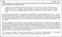 Thumbnail of DETERMINATION OF THE PROTON TUNNELING SPLITTING OF MALONALDEHYDE IN THE GROUND STATE BY MILLIMETER-WAVE SPECTROSCOPY