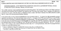 Thumbnail of SUBMILLIMETER-WAVE SPECTROSCOPY OF THE VAN DER WAALS BENDING BAND OF Ar-HBr