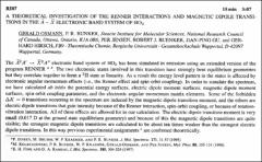 Thumbnail of A THEORETICAL INVESTIGATION OF THE RENNER INTERACTIONS AND MAGNETIC DIPOLE TRANSITIONS IN THE $\widetilde{A}^{2}A^{\prime} \rightarrow \widetilde{X}^{2}A^{\prime \prime}$ ELECTRONIC BAND SYSTEM OF $HO_{2}$