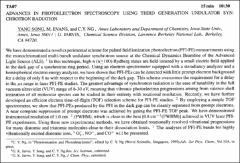 Thumbnail of ADVANCES IN PHOTOELECTRON SPECTROSCOPY USING THIRD GENERATION UNDULATOR SYNCHROTRON RADIATION