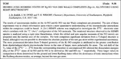 Thumbnail of HIGHER LYING RYDBERG STATES OF Rg $\cdot$ NO VAN DER WAALS COMPLEXES $(Rg=Ar, Kr)$ STUDIED USING REMPI SPECTROSCOPY