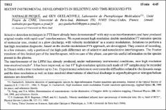 Thumbnail of RECENT INSTRUMENTAL DEVELOPMENTS IN SELECTIVE AND TIME-RESOLVED FTS