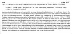 Thumbnail of CALCULATED OH STRETCHING VIBRATIONAL BAND INTENSITIES OF SMALL WATER CLUSTERS