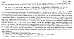 Thumbnail of THE PHOTOIONIZATION SPECTROSCOPY OF THE ZINC MONOETHYL RADICAL AND ITS POSITIVE ION