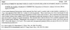 Thumbnail of QUANTUM SYMMETRY RESTRICTIONS IN STATE-TO-STATE INELASTIC SCATTERING FROM $S_{1}$ GLYOXAL