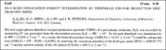Thumbnail of $HS-H$ BOND DISSOCIATION ENERGY DETERMINATION BY THRESHOLD ION-PAIR PRODUCTION SPECTROSCOPY (TIPPS)