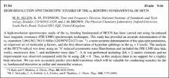 Thumbnail of HIGH-RESOLUTION SPECTROSCOPIC STUDIES OF THE $\nu_{5}$ BENDING FUNDAMENTAL OF HCCN