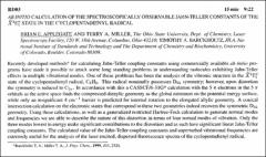 Thumbnail of AB INITIO CALCULATION OF THE SPECTROSCOPICALLY OBSERVABLE JAHN-TELLER CONSTANTS OF THE $\tilde{X}^{2}E^{\prime\prime}_{1}$ STATE IN THE CYCLOPENTADIENYL RADICAL.