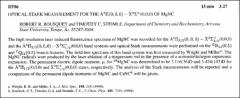 Thumbnail of OPTICAL STARK MEASUREMENT FOR THE $\tilde{A}^{2}\Pi(0,0,0) - X^{2}\Sigma^{+}(0,0,0)$ OF MgNC