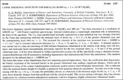 Thumbnail of LARGE TORSIONAL EFFECTS IN THE PARALLEL BAND $(v_{5} = 1 \leftarrow 0)$ OF $CH_{3} SiF_{3}$
