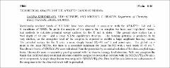 Thumbnail of THEORETICAL ANALYSIS OF THE $A^{3}\Pi-X^{3}\Sigma^{-}$ BANDS OF NH/D-Ne