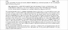 Thumbnail of FT-MW AND PERMUTATION-INVERSION GROUP THEORETICAL INVESTIGATIONS OF THE MICROWAVE SPECTRUM OF $(CH_{3})_{3}SnCl$