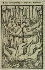 Thumbnail of Seven (six) martyrs at Canterbury.