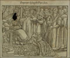 Thumbnail of Emperor Frederick kissing the feet of the pope