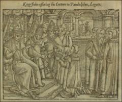 Thumbnail of King John surrendering his crown to the papal legate