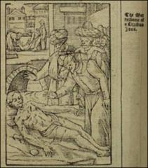 Thumbnail of The discovery and (insert, upper L) burial by Turks of the corpse of a converted Jew in Constantinople. Small