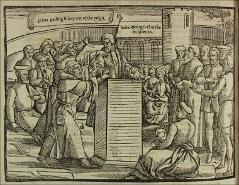 Thumbnail of Thomas Bilney ejected from the pulpit in 1527