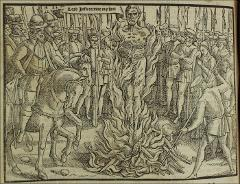 Thumbnail of The burning of John Hooper, Bishop of Gloucester