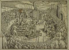 Thumbnail of The martyrdom of Archbishop Latimer and Bishop Ridley while Smith preaches
