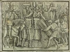 Thumbnail of The burning of seven martyrs at Smithfield