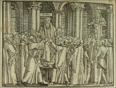 Thumbnail of The arrest of Thomas Cranmer during Cole's sermon in St. Mary's church