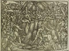 Thumbnail of The burning of thirteen martyrs at Stratford at Bow