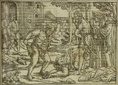 Thumbnail of Bonner scourging his prisoner in his orchard at Fulham